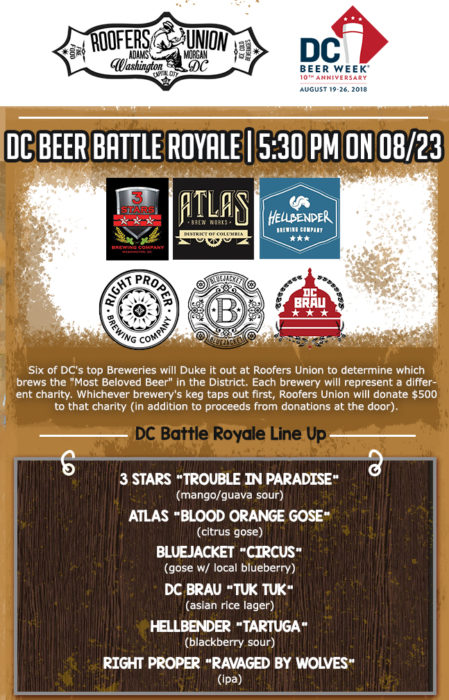 DC BEER WEEK: DC Beer Battle Royale (4th Annual)
