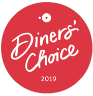 Awarded Diner's Choice award 2019