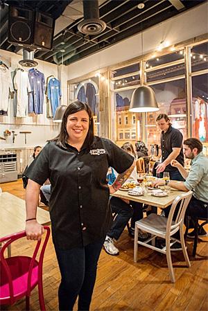 Roofers Union's executive chef Marjorie Meek-Bradley. (Dixie D. Vereen/For The Washington Post)