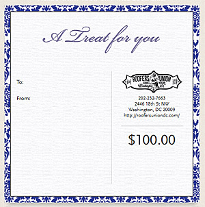 Roofers Union Gift Certificates make great gifts!